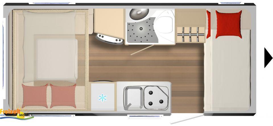 b rstner premio plus 440 tk als pickup camper in warth bei. Black Bedroom Furniture Sets. Home Design Ideas